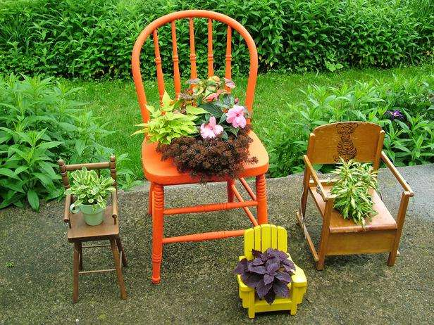reconditioned old chairs