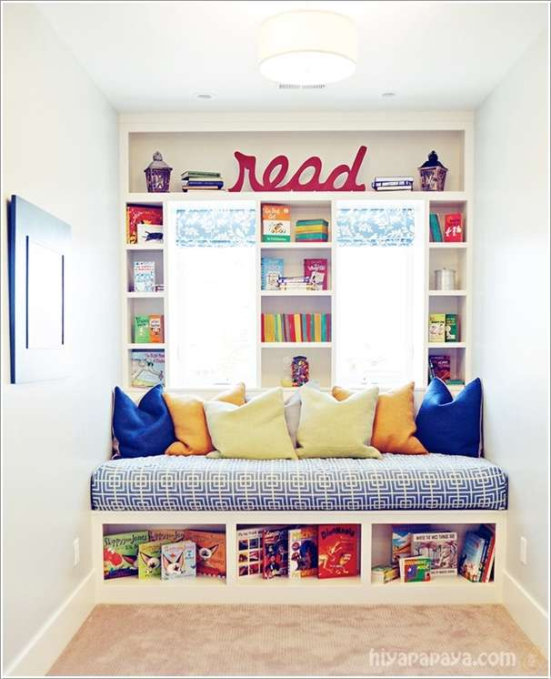 10  15 Creative Ways to Design a Reading Nook for Your Kids 1026