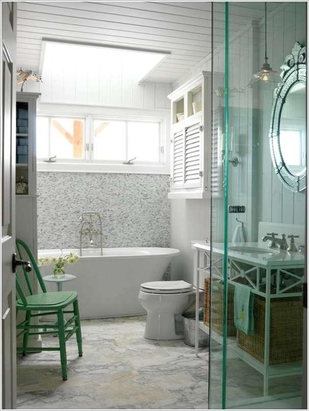 1. 15 Fabulous and Chic Bathroom Ceiling Design Ideas