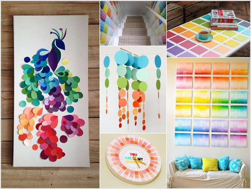 paint chip craft ideas 20 cheerful paint chip projects to try for your home 5059