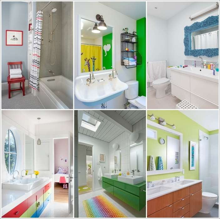 15 fun and bright ideas for kids 39 bathroom for Fun kids bathroom
