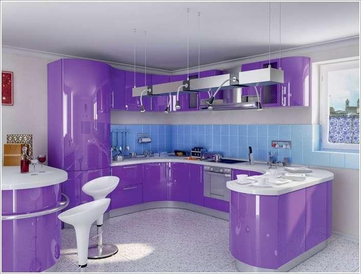 Interior Design 15 Ways to Design Your Kitchen with Pretty Purple