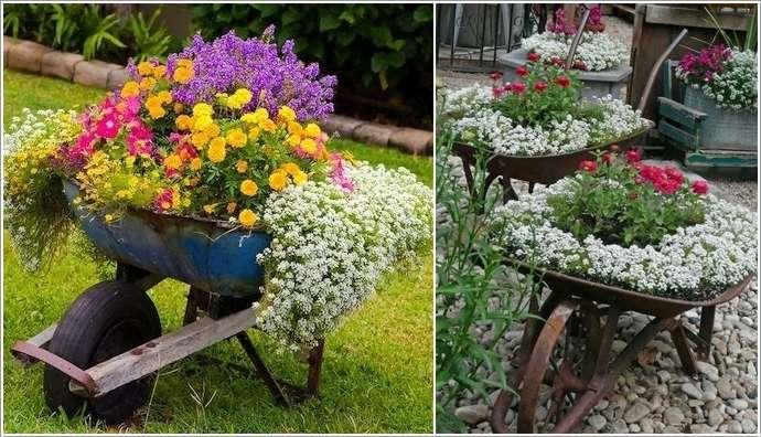 2 10 Terrific Garden Planter Ideas With Wheels 218