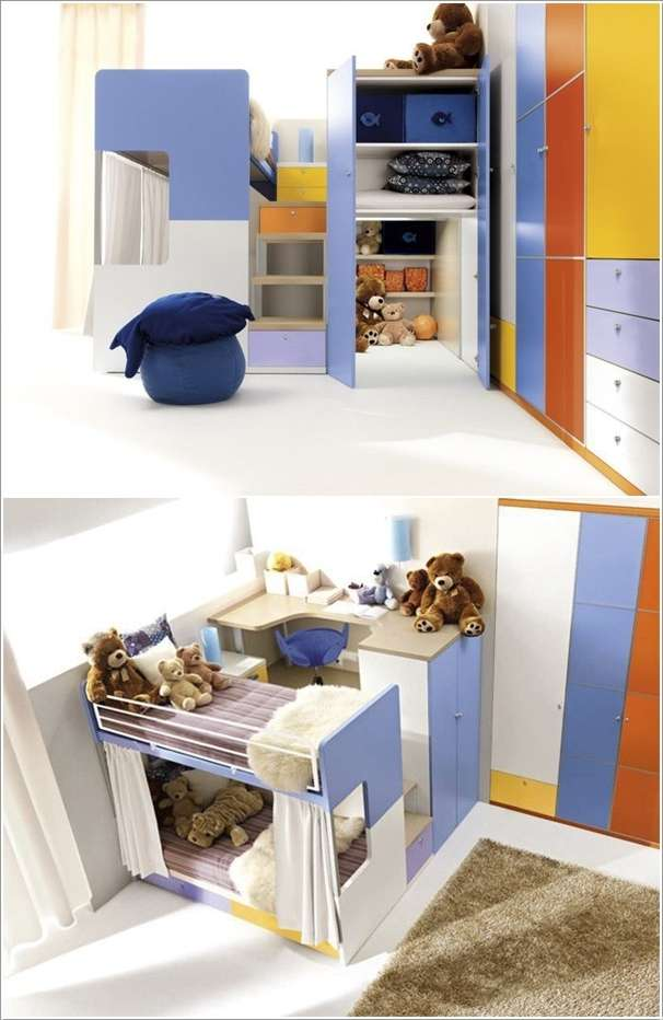 Play and study twin loft with desk