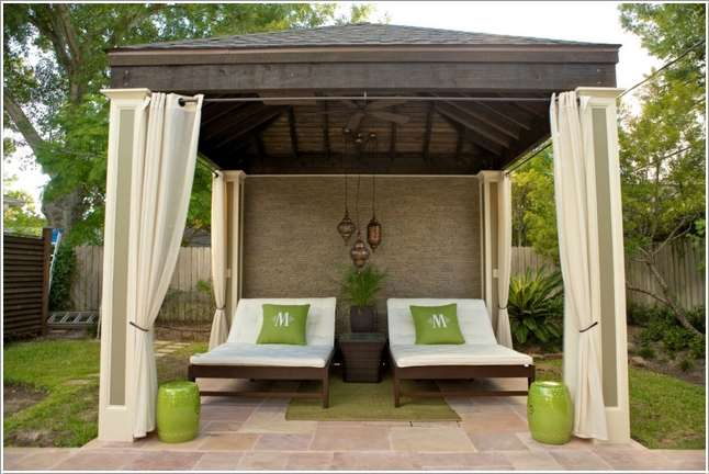 10 spectacular outdoor cabana ideas for your home for Outdoor cabana designs