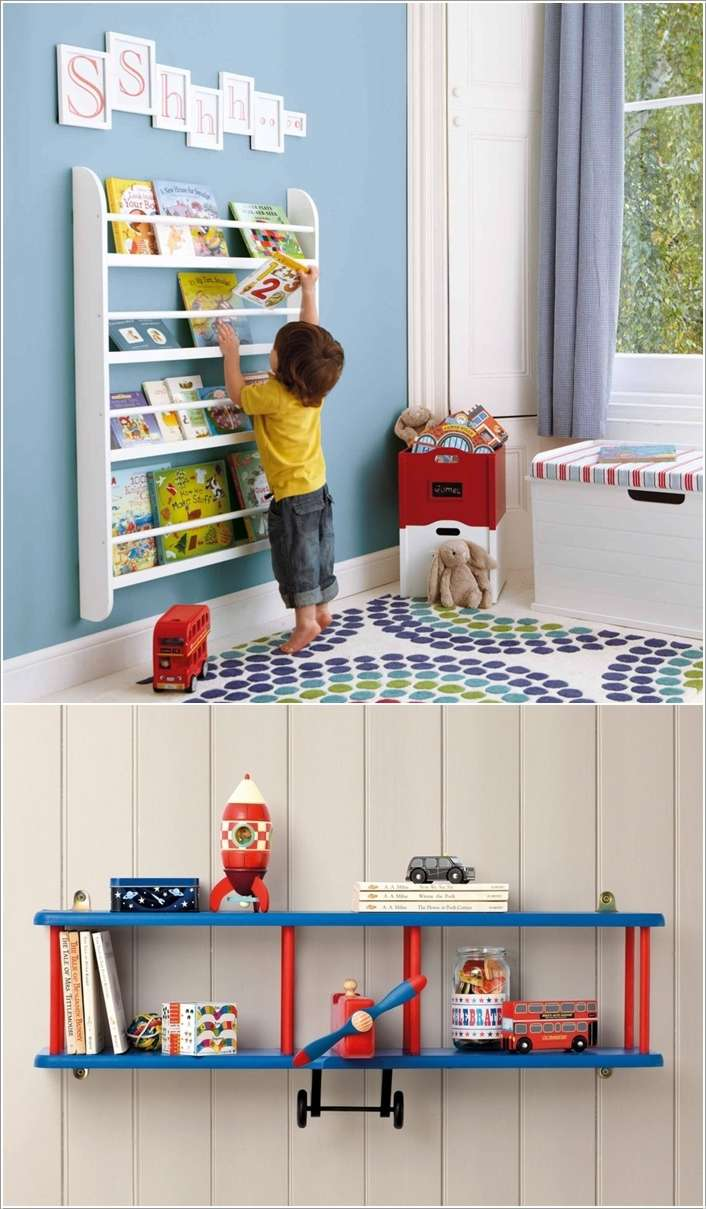15 super cute ideas to decorate a toddler boy 39 s room - Adorable dollhouse bookshelves kids to decorate the room ...