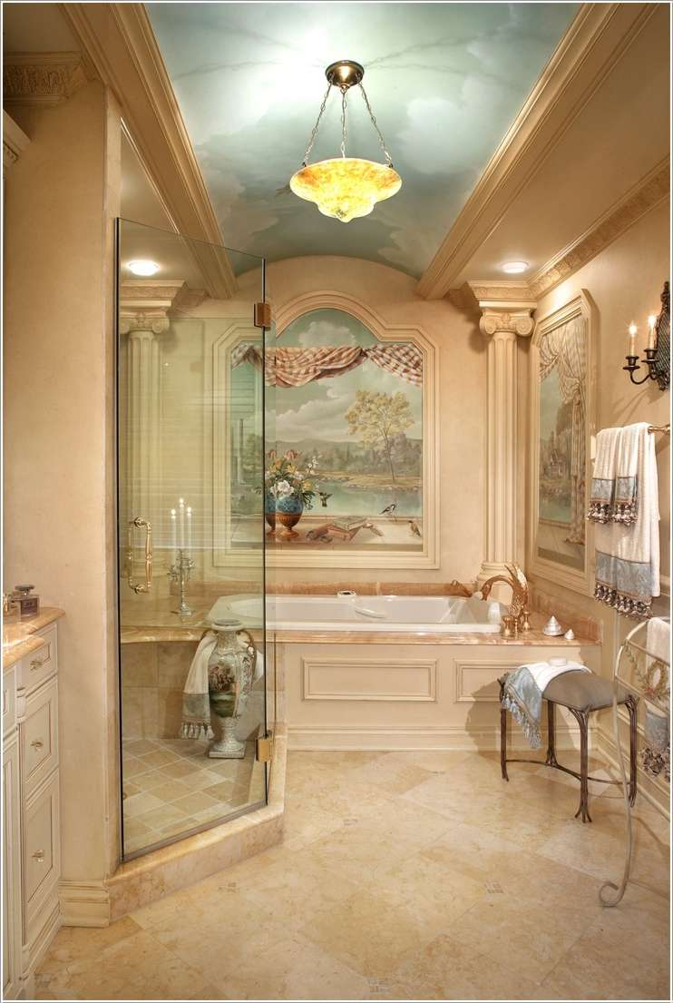 15 fabulous and chic bathroom ceiling design ideas for Cool painted ceilings