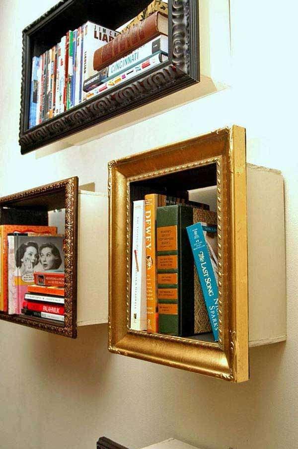 Artsy Framed Bookshelfs