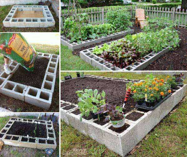 15 awesome diy garden bed edging ideas for Diy garden borders