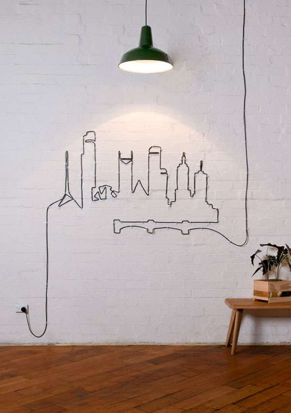 City Scraper Wall Decor Made From Wires
