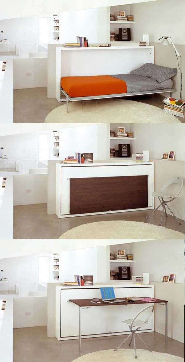 Clever Murphy Bed with Desk