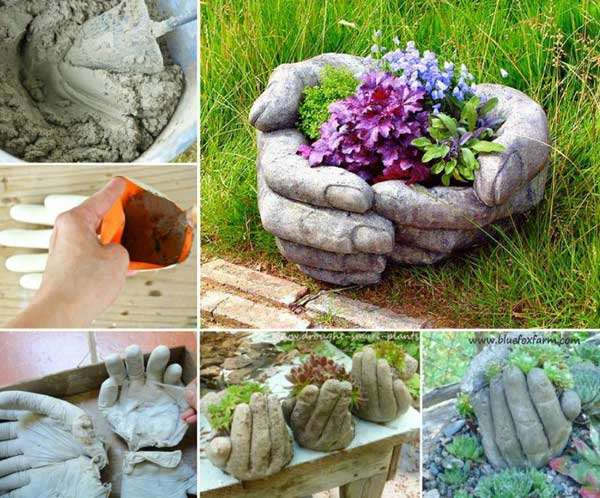 Concrete Hands Pot Images