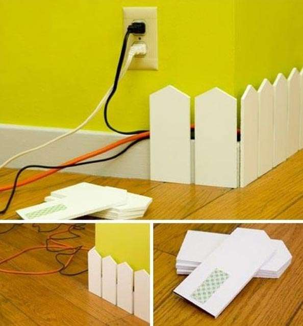Create Small white Fence to hide the cordes