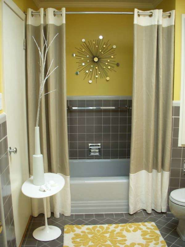 Focal Point with a Shower Curtain
