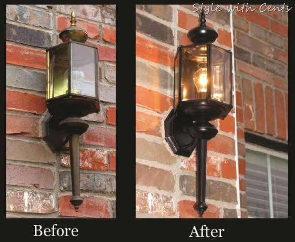 Front Porch Light Makeover