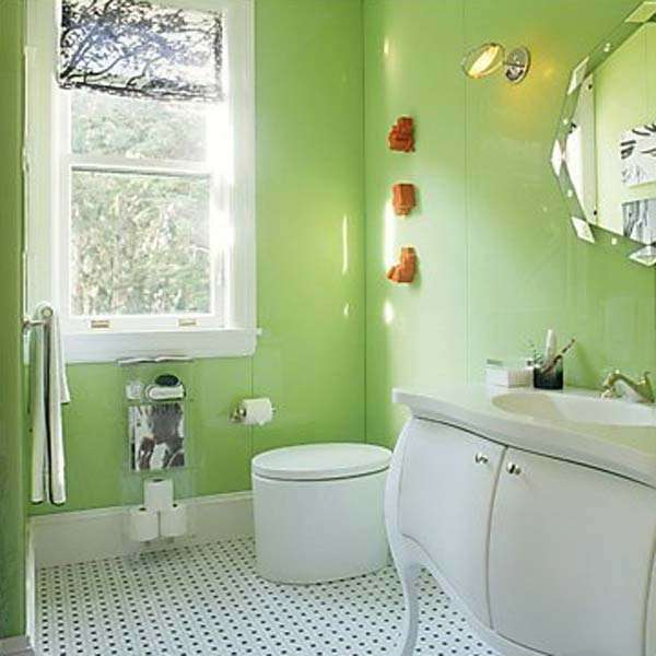 Green Paint will visually enlarge the interior
