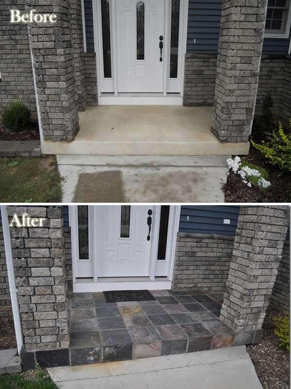 Install a slate tile entry