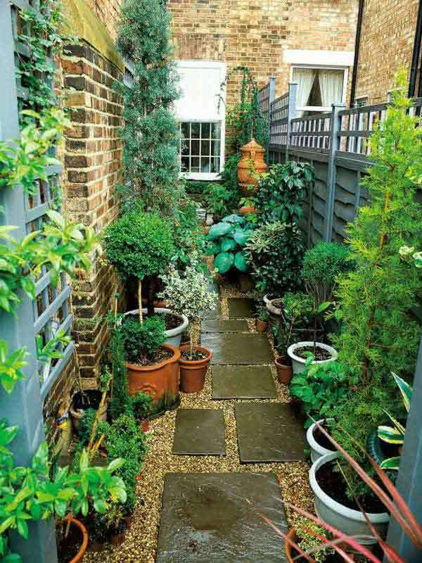 Narrow Backyard Design Ideas : Amazing Interior Design 15 Cool Ideas For Narrow and Long Outdoor