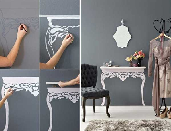 Make a Painted Faux Table
