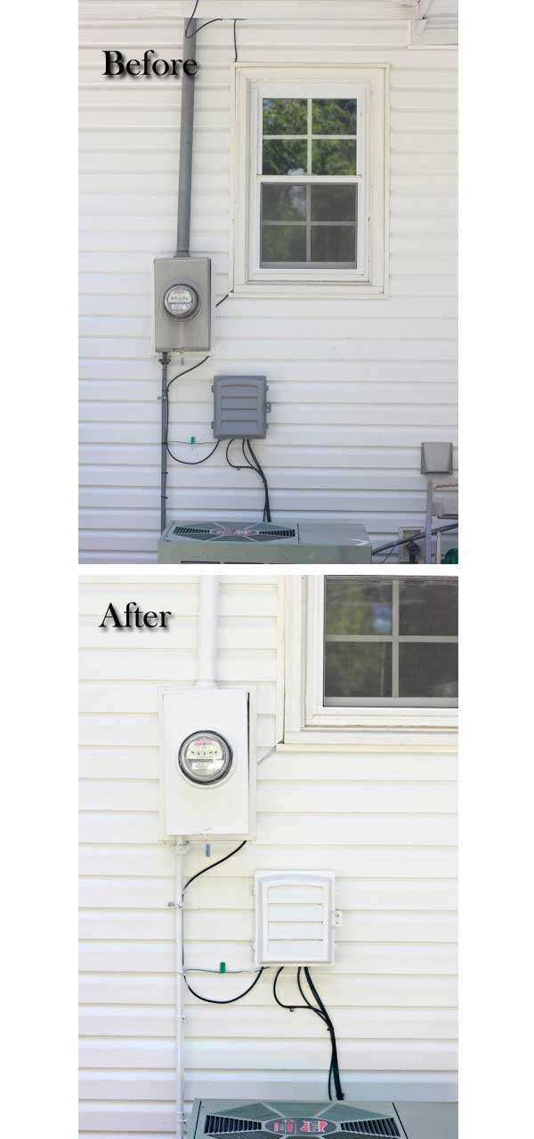 Makeover of an electrical box.