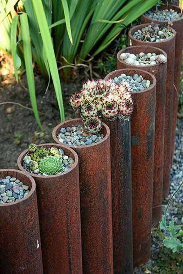 15 Awesome Diy Garden Bed Edging Ideas