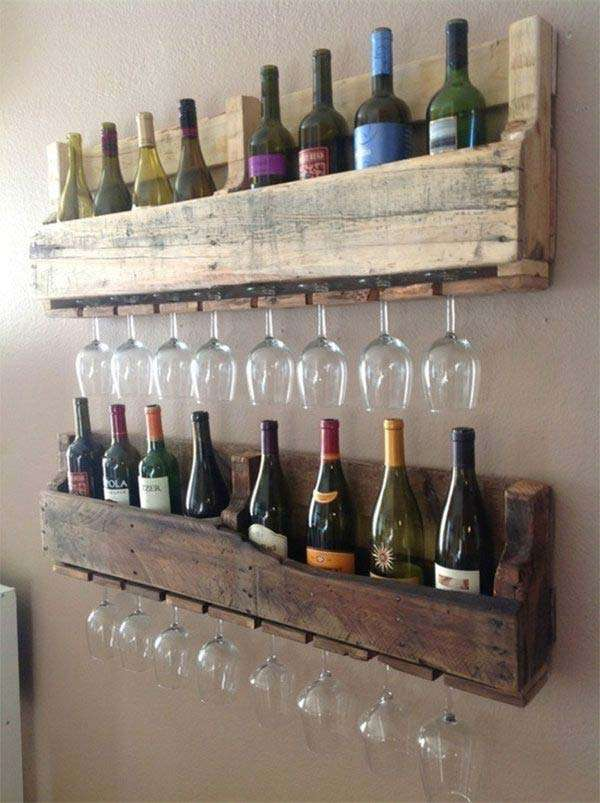 Recycle Pallet to Wine Rack