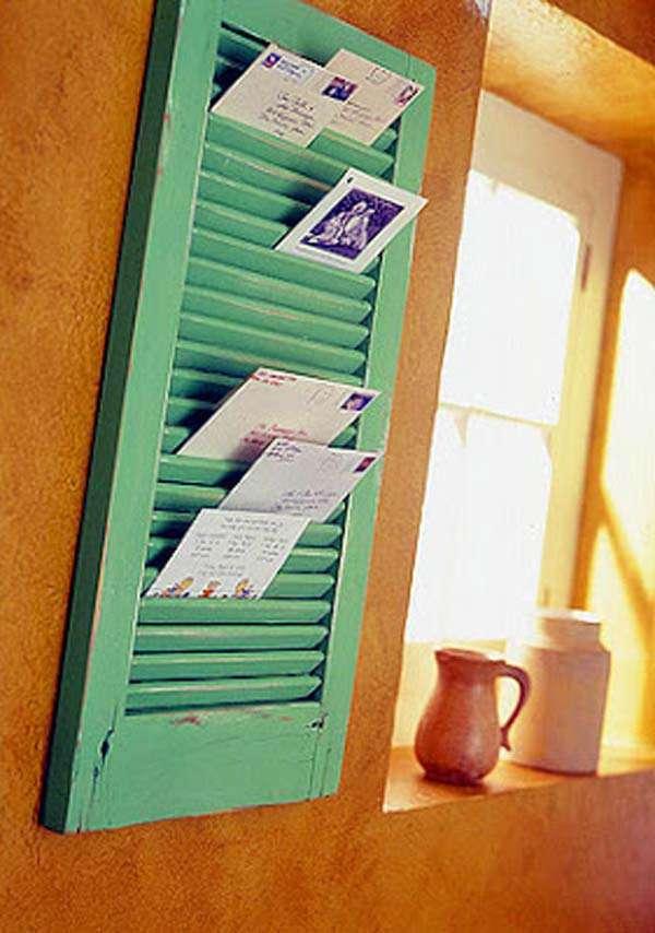 Repurposed window shutter