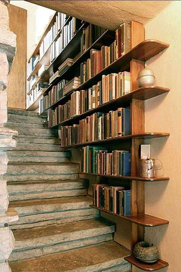 Staircase Side Bookshelves