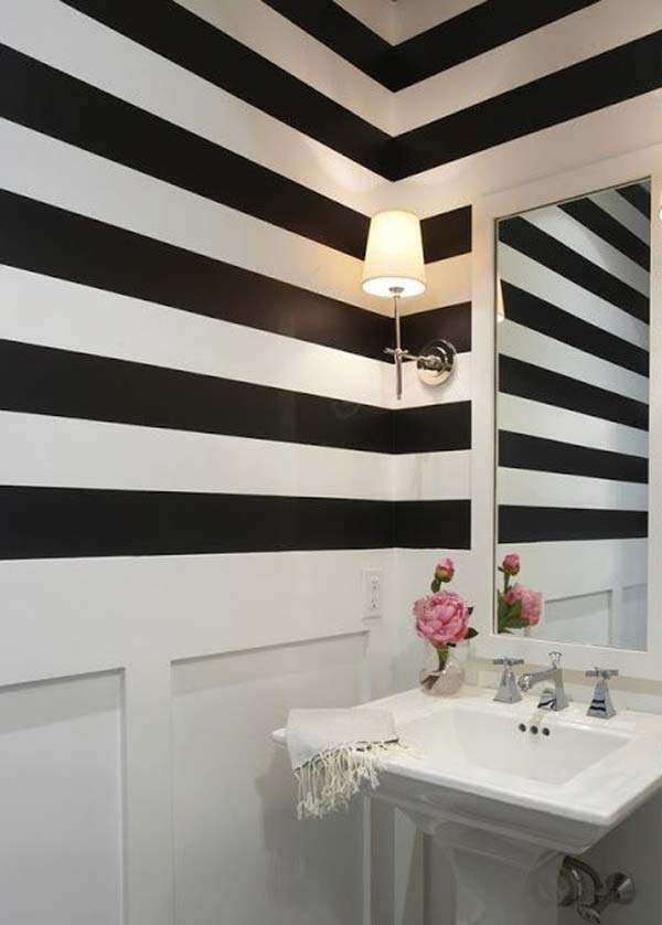 Stripes with make the place look bigger