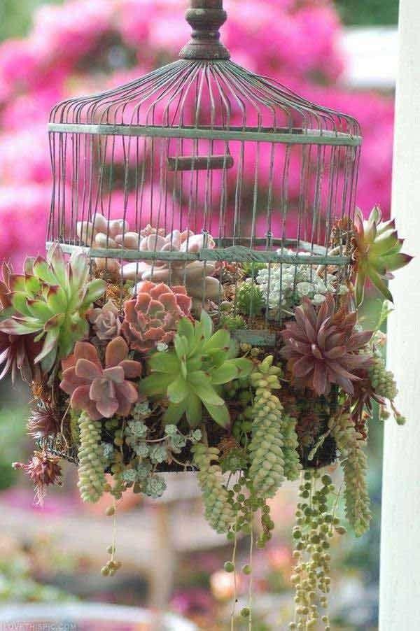 Vintage Birdhouse Pot