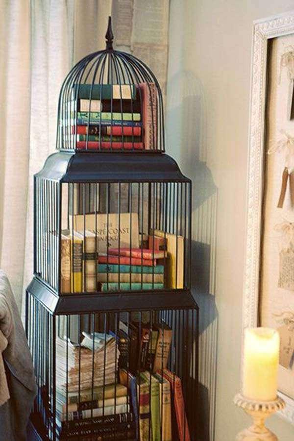 Vintage Birdhouse as a library