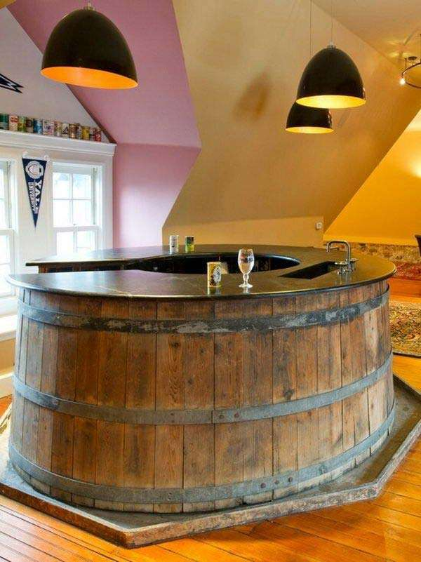 Whiskey Barrell Bar