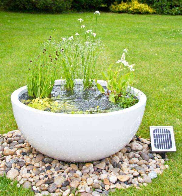 White Stone Pod used as a mini pond