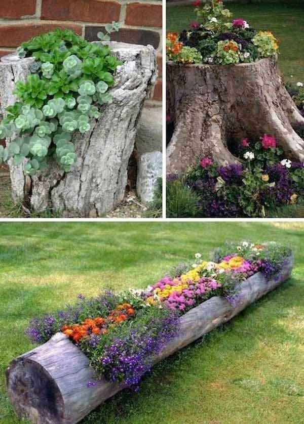 Wood Logs Pots