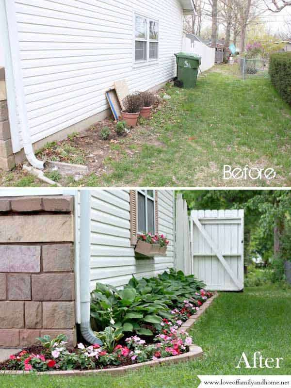 15 easy and budget friendly ideas to enhance the curb for Cheap backyard makeover ideas