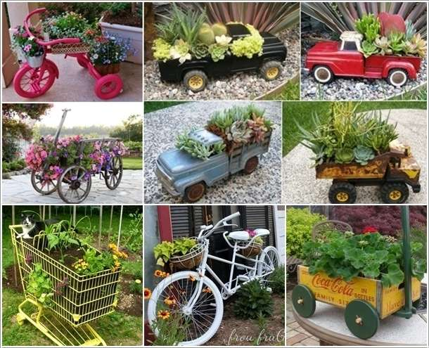 10 terrific garden planter ideas with wheels for Garden planter ideas