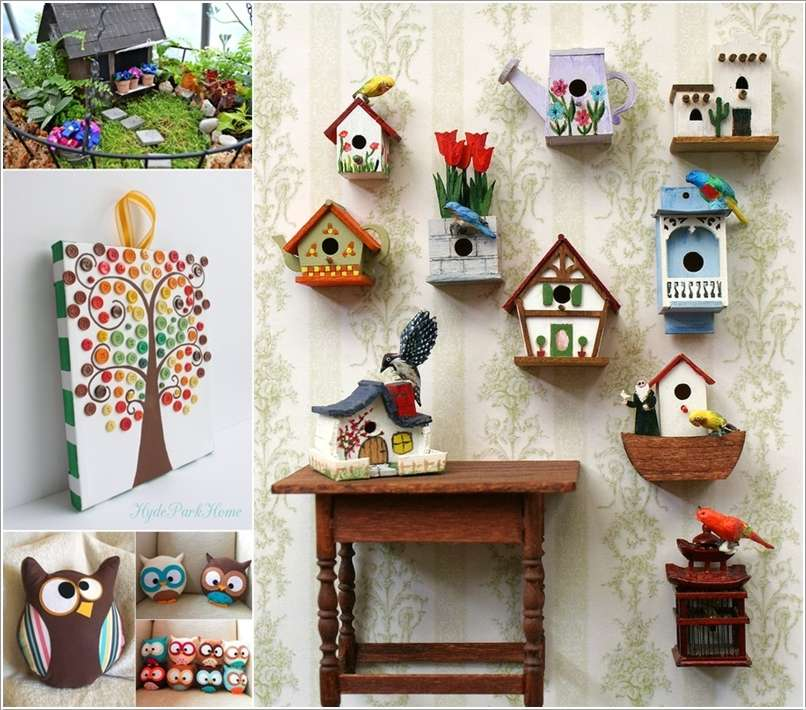 15 cute diy home decor projects that you 39 ll love for Art and craft ideas for home decoration