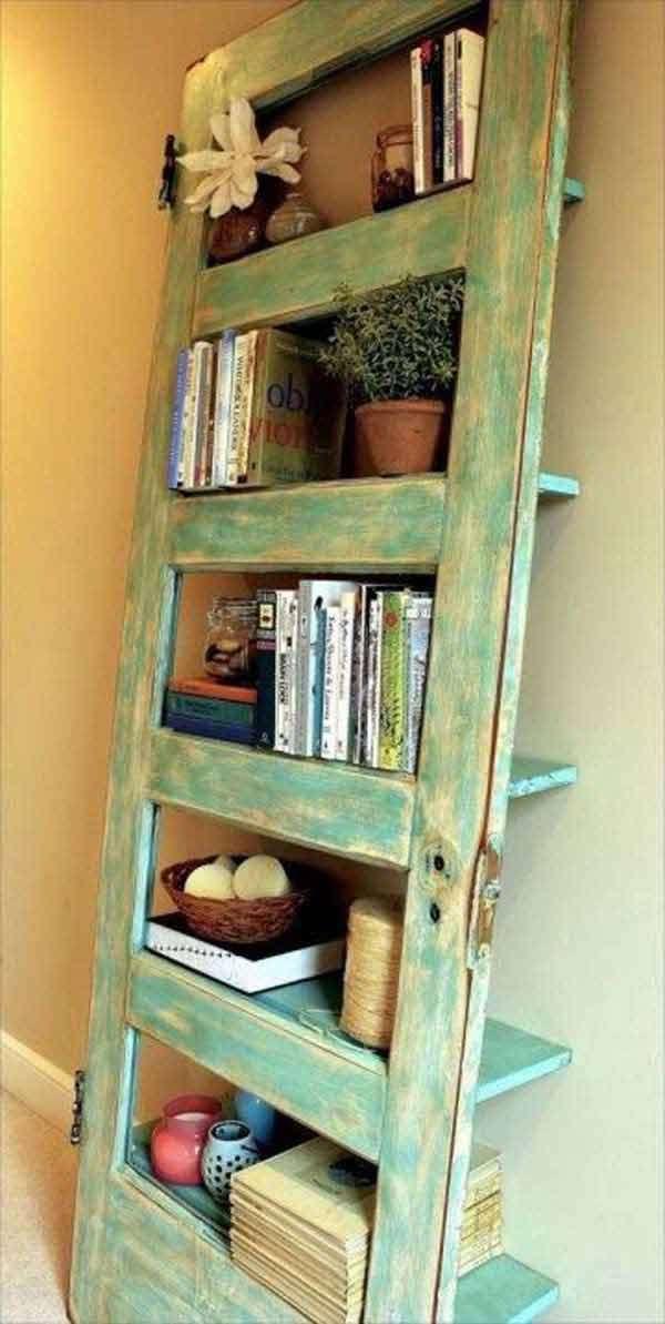 door turned into a shelf