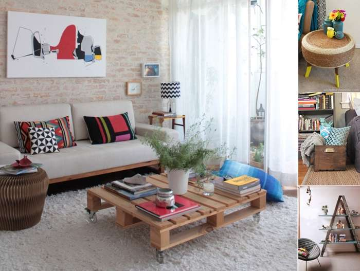 15 living room projects made from recycled materials for Home decor made from recycled materials