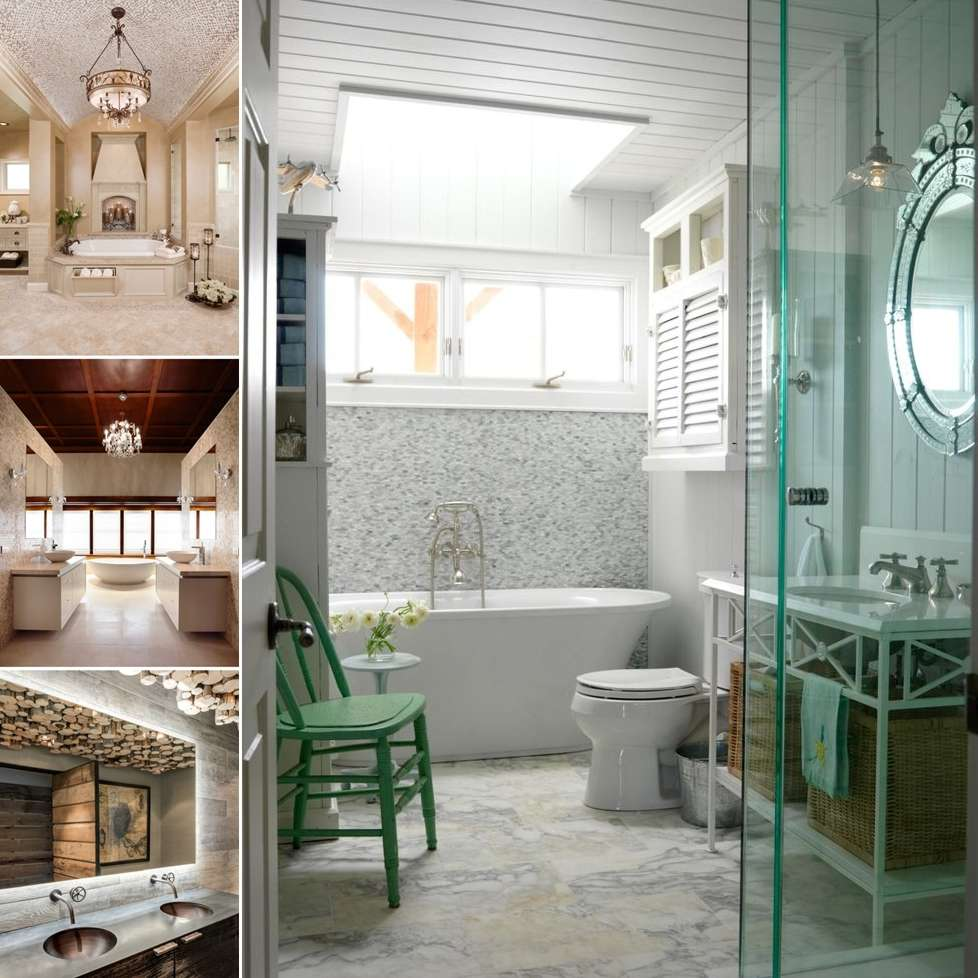 15 Fabulous and Chic Bathroom Ceiling Design Ideas