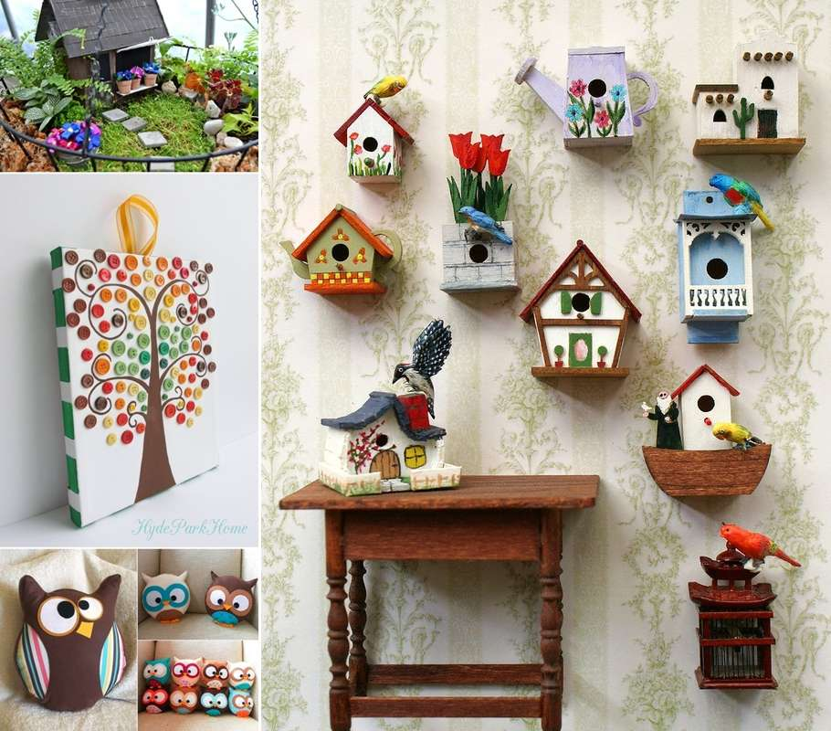 15 cute diy home decor projects that you 39 ll love for Art and craft ideas for decoration