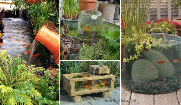 15 awesome small backyard aquarium diy ideas for Diy patio pond