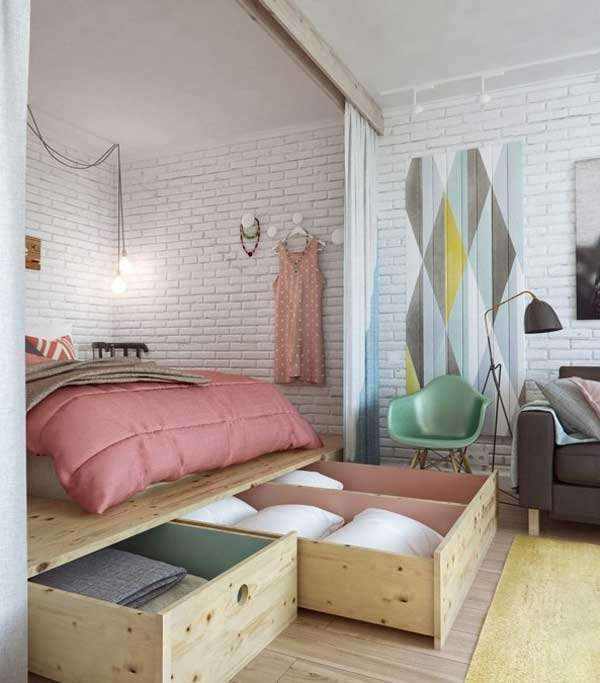 storage platform built in your small room