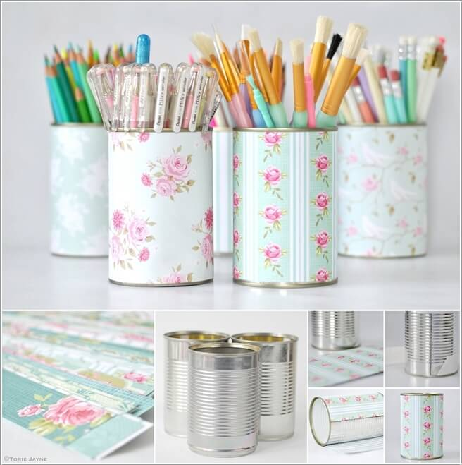 10  10 Cool DIY Pencil Holders for You to Make 1028