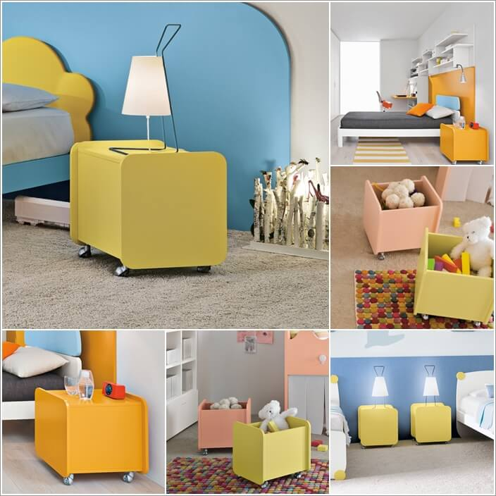 12  15 Cute Kids' Bedroom Nightstand Designs 1218