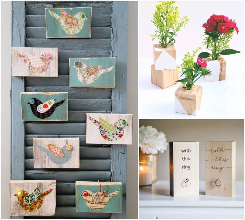 Wood Block Craft Ideas ~ Creative wood block crafts to make