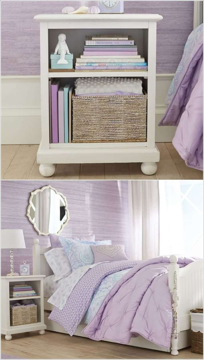 2  15 Cute Kids' Bedroom Nightstand Designs 228