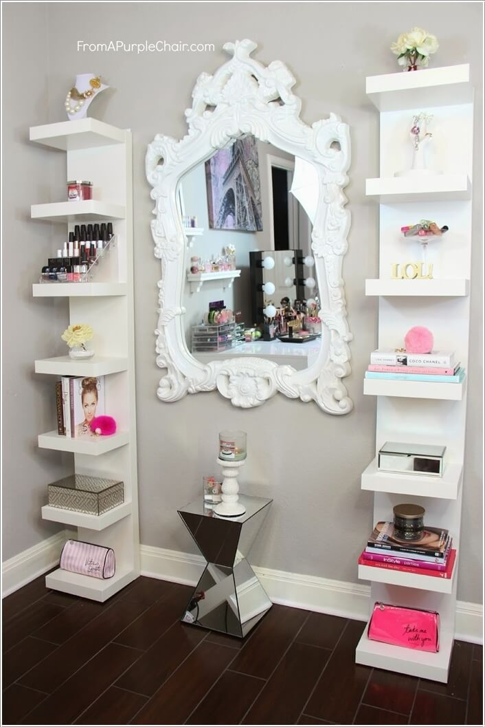 10 cool ideas to add a makeup area to your bedroom for Closet modernos para habitaciones