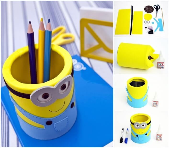 Diy creative pencil holder images Cool pencil holder ideas