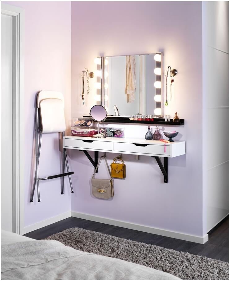 10 Cool Ideas To Add A Makeup Area Your Bedroom
